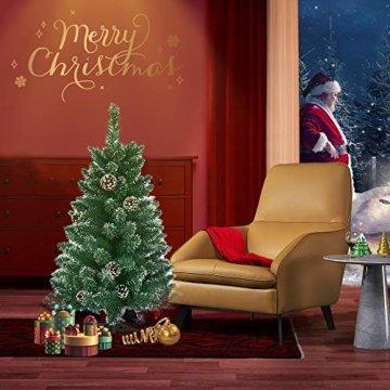 Froadp 90cm Künstlicher PVC Weihnachtsbaum Tannenbaum Kiefernadel Mit Schnee-Effekt(Schnee-Effekt, 90cm) - 9