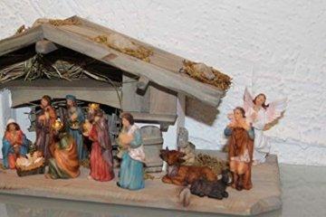 Garten und Holztrends Weihnachtskrippe Krippe Krippenstall (W20+ Figuren) Weihnachten Weihnachtskrippen Krippenfiguren Tischkrippe - 3