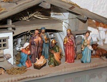 Garten und Holztrends Weihnachtskrippe Krippe Krippenstall (W20+ Figuren) Weihnachten Weihnachtskrippen Krippenfiguren Tischkrippe - 4