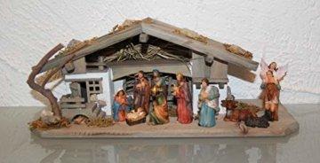 Garten und Holztrends Weihnachtskrippe Krippe Krippenstall (W20+ Figuren) Weihnachten Weihnachtskrippen Krippenfiguren Tischkrippe - 5