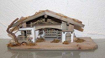 Garten und Holztrends Weihnachtskrippe Krippe Krippenstall (W20+ Figuren) Weihnachten Weihnachtskrippen Krippenfiguren Tischkrippe - 8