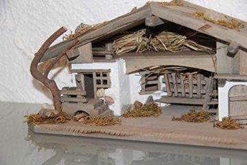 Garten und Holztrends Weihnachtskrippe Krippe Krippenstall (W20+ Figuren) Weihnachten Weihnachtskrippen Krippenfiguren Tischkrippe - 9