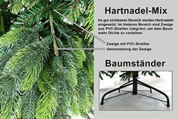 Gartenpirat 150cm BonTree Fichte Weihnachtsbaum Tannenbaum künstlich aus Spritzguss/PVC-Mix - 3