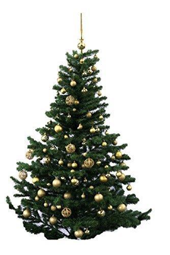 Geschenkestadl 101 teilig Weihnachtskugel Herz Kugel mit Schneeflocke Christbaumspitze mit 100 Metallhaken Anhänger Baumschmuck Weihnachten (Grün) - 3