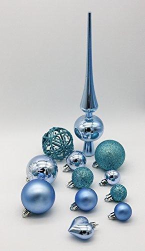 Geschenkestadl 101 teilig Weihnachtskugel Herz Kugel mit Schneeflocke Christbaumspitze mit 100 Metallhaken Anhänger Baumschmuck Weihnachten (Grün) - 5