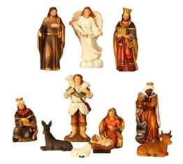 Geschenkestadl Krippenfiguren 11-teiliges Set Krippe Figuren bis 8,5 cm Weihnachten Maria Josef Jesus - 1