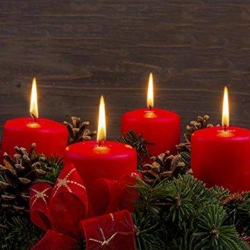 GoMaihe Kerzenhalter Adventskranz 4 Stück, Kerzenteller für Adventskranz Metall, Kerzenpick mit Dorn 8cm Adventskerzenhalter, Kerzenstecker für Advent Weihnachts Tisch Deko Hochzeit, Silber, MEHRWEG - 4