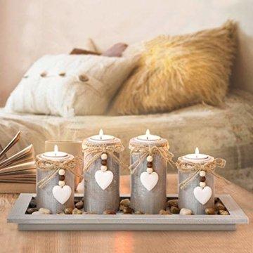 GoMaihe Kerzenständer Teelichthalter 4 Stück, Kerzenleuchter Kerzenhalter Tischdeko Deko Wohnzimmer Schlafzimmer Balkon Badezimmer, Dekoration Weihnachten Weihnachtsdeko Adventskerzenhalter, MEHRWEG - 1
