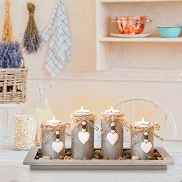 GoMaihe Kerzenständer Teelichthalter 4 Stück, Kerzenleuchter Kerzenhalter Tischdeko Deko Wohnzimmer Schlafzimmer Balkon Badezimmer, Dekoration Weihnachten Weihnachtsdeko Adventskerzenhalter, MEHRWEG - 5