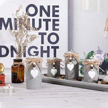 GoMaihe Kerzenständer Teelichthalter 4 Stück, Kerzenleuchter Kerzenhalter Tischdeko Deko Wohnzimmer Schlafzimmer Balkon Badezimmer, Dekoration Weihnachten Weihnachtsdeko Adventskerzenhalter, MEHRWEG - 7