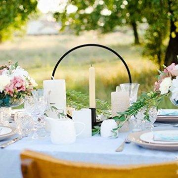 GoMaihe Retro Kerzenhalter 2 Set in Unterschiedlicher Größe, 29/23cm Antik Kerzenständer Eisen Deko Rund Geformt Kerzenleuchter, Kerzen Ständer Tischdeko Hochzeit, Schwarz.MEHRWEG - 7