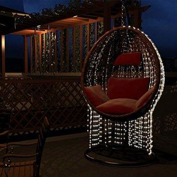 gresonic 100/200/300/400 Led Lichterbündel 1M/2M Silberdraht Mirco Lichterkette Strombetrieb Deko für Innen und Außen Warmweiß (Warmweiß, 100LED) - 3