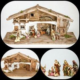 Große Weihnachtskrippe mit Krippenfiguren (W11+kF5) Krippenstall Weihnachten-Weihnachtskrippen - 1