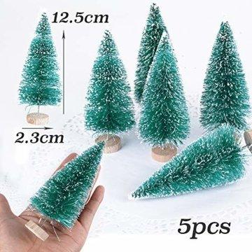 (H: 4.5cm+6.5cm+8.5cm+12.5cm) 30 Stück Mini Weihnachtsbaum Künstlich Klein Mini Tannenbaum Christbaum mit Ständer Weihnachtsdeko Weihnachten Tischdeko Winterdeko Geschenk Decoration oder Modellbau - 3
