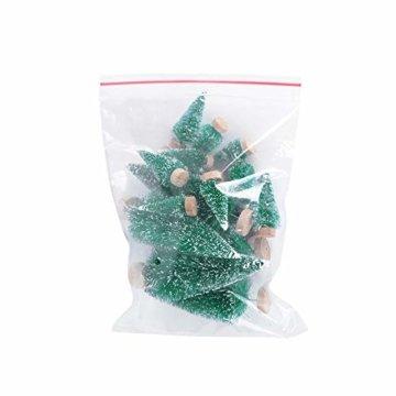 (H: 4.5cm+6.5cm+8.5cm+12.5cm) 30 Stück Mini Weihnachtsbaum Künstlich Klein Mini Tannenbaum Christbaum mit Ständer Weihnachtsdeko Weihnachten Tischdeko Winterdeko Geschenk Decoration oder Modellbau - 4