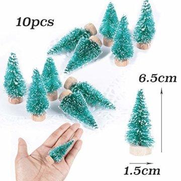 (H: 4.5cm+6.5cm+8.5cm+12.5cm) 30 Stück Mini Weihnachtsbaum Künstlich Klein Mini Tannenbaum Christbaum mit Ständer Weihnachtsdeko Weihnachten Tischdeko Winterdeko Geschenk Decoration oder Modellbau - 6
