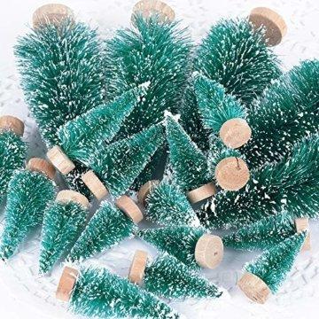 (H: 4.5cm+6.5cm+8.5cm+12.5cm) 30 Stück Mini Weihnachtsbaum Künstlich Klein Mini Tannenbaum Christbaum mit Ständer Weihnachtsdeko Weihnachten Tischdeko Winterdeko Geschenk Decoration oder Modellbau - 8