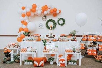 HBBMAGIC LED Tischrock Weiß Tüll Tischdeko Party deko Für Babyparty mädchen, Hochzeit, Geburtstag, Weihnachten, Candy bar zubehör(Weiß,183cm*76cm) - 3