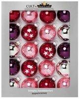 HEITMANN DECO Krebs & Sohn 20er Set Glaskugeln - Weihnachtsbaumschmuck zum Aufhängen - Christbaumkugeln Sortiment - Beere Silber - 1