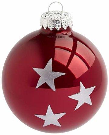 HEITMANN DECO Krebs & Sohn 20er Set Glaskugeln - Weihnachtsbaumschmuck zum Aufhängen - Christbaumkugeln Sortiment - Beere Silber - 5