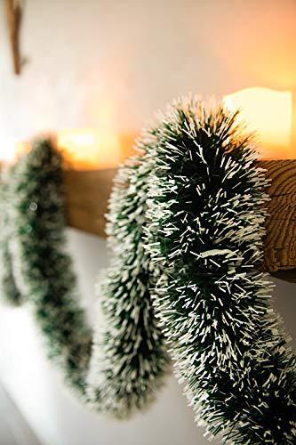 HEITMANN DECO Tannengirlande für Innen - natürliche Deko - Dekogirlande - Weihnachtsgirlande - grün mit weißen Spitzen - 2
