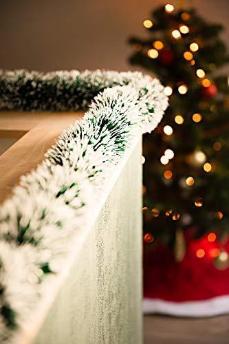 HEITMANN DECO Tannengirlande für Innen - natürliche Deko - Dekogirlande - Weihnachtsgirlande - grün mit weißen Spitzen - 3