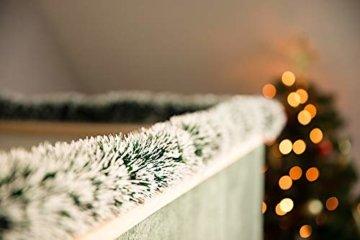 HEITMANN DECO Tannengirlande für Innen - natürliche Deko - Dekogirlande - Weihnachtsgirlande - grün mit weißen Spitzen - 4