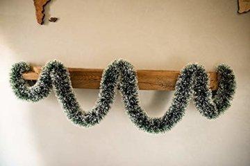 HEITMANN DECO Tannengirlande für Innen - natürliche Deko - Dekogirlande - Weihnachtsgirlande - grün mit weißen Spitzen - 5
