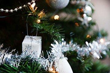 HEITMANN DECO Weihnachtsbaum-Schmuck - Silber - 60-teilig - Set inkl. Baumspitze, Kugeln, Perlkette, Girlande und Sterne - Kunststoff - 3