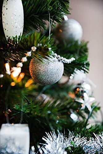 HEITMANN DECO Weihnachtsbaum-Schmuck - Silber - 60-teilig - Set inkl. Baumspitze, Kugeln, Perlkette, Girlande und Sterne - Kunststoff - 4