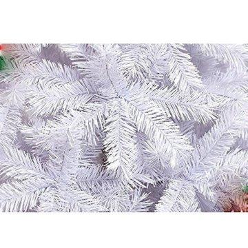 Hengda® 150CM Künstlicher Weihnachtsbaum Tannenbaum Christbaum Kunsttanne mit Metallfuß WEIß - 3