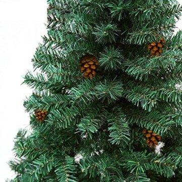 Hengda® Einzigartiger Künstlicher Weihnachtsbaum Baum Dekobaum Kunstbaum mit Ständer Christbaum 120CM Tannenbaum Grün - 3