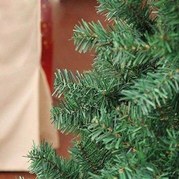 Hengda® Einzigartiger Künstlicher Weihnachtsbaum Baum Dekobaum Kunstbaum mit Ständer Christbaum 120CM Tannenbaum Grün - 4