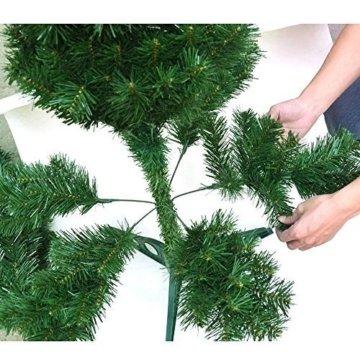 Hengda® Einzigartiger Künstlicher Weihnachtsbaum Baum Dekobaum Kunstbaum mit Ständer Christbaum 120CM Tannenbaum Grün - 5