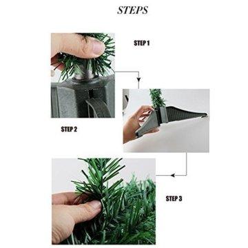 Hengda® Einzigartiger Künstlicher Weihnachtsbaum Baum Dekobaum Kunstbaum mit Ständer Christbaum 120CM Tannenbaum Grün - 7
