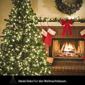 Hengda LED Baummantel Lichterkette mit Ring, 10 Stränge 280 LEDs, Christbaumbeleuchtung LED Lichternetz Warmweiß für ca. 150-250 cm Weihnachtsbaum - 2