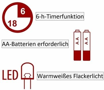 Hochwertige & Edle LED Kerze im Glas Windlicht mit Timer & Fernbedienung – Dreidochtkerze/Mehrdochtkerze – Realistisch Flackernd – Neuheit 2020 Weihnachten (Grau, Höhe: 20cm - Ø 15cm) - 2