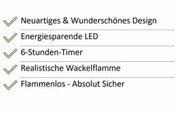 Hochwertige & Edle LED Kerze im Glas Windlicht mit Timer & Fernbedienung – Dreidochtkerze/Mehrdochtkerze – Realistisch Flackernd – Neuheit 2020 Weihnachten (Grau, Höhe: 20cm - Ø 15cm) - 3