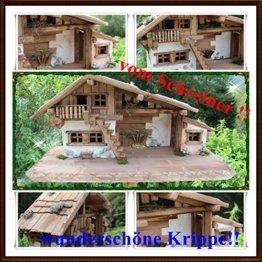 Holzbau Fuchs Weihnachtskrippe- Krippe Krippenstall Weihnachten-Weihnachtskrippe (Krippe W20 ohne Figuren) - 1