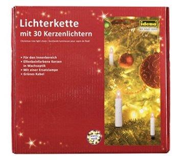 Idena 8582169 - Kerzenlichterkette, 30er, für innen, warm weiß - 1