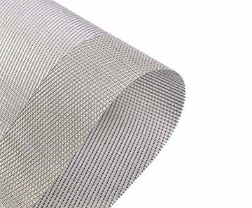 ISIYINER Tischset, Platzset 6er Set rutschfest Abwaschbar PVC Abgrifffeste Hitzebeständig Platzdeckchen für Zuhause Restaurant Speisetisch Silber - 5