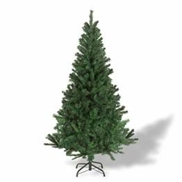 Julido Weihnachtsbaum Kunstbaum künstlicher Baum Tannenbaum Dekobaum Christbaum Grün mit Ständer 150cm 500 Spitzen - 1