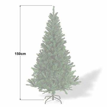 Julido Weihnachtsbaum Kunstbaum künstlicher Baum Tannenbaum Dekobaum Christbaum Grün mit Ständer 150cm 500 Spitzen - 4