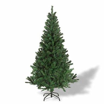 Julido Weihnachtsbaum Kunstbaum künstlicher Baum Tannenbaum Dekobaum Christbaum Grün mit Ständer 150cm 500 Spitzen - 6