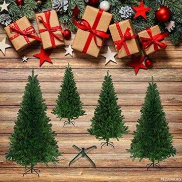 Julido Weihnachtsbaum Kunstbaum künstlicher Baum Tannenbaum Dekobaum Christbaum Grün mit Ständer 150cm 500 Spitzen - 8