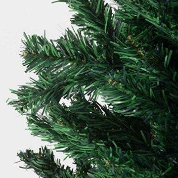 Julido Weihnachtsbaum Kunstbaum künstlicher Baum Tannenbaum Dekobaum Christbaum Grün mit Ständer 150cm 500 Spitzen - 9
