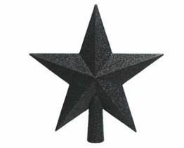 KAE Christbaumspitze Stern Kunststoff schwarz - 1