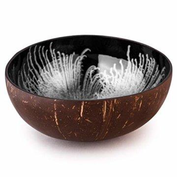 Kaloogo® Cocobowl Splash - Kokosnuss Schale/Dekoschale (weiß) - 1