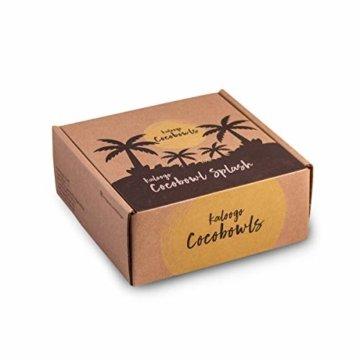 Kaloogo® Cocobowl Splash - Kokosnuss Schale/Dekoschale (weiß) - 3