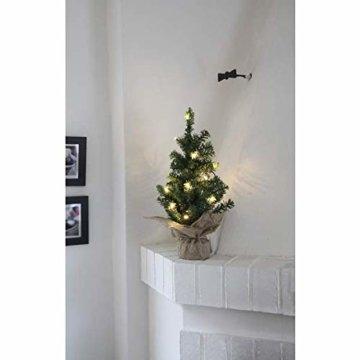 Kamaca LED Künstlicher Weihnachtsbaum Tannenbaum im Beutel mit Timer und 10 warm weissen LED Höhe 45 cm zum individuellen Dekorieren (im Jute Sack 45 x 25 cm) - 2